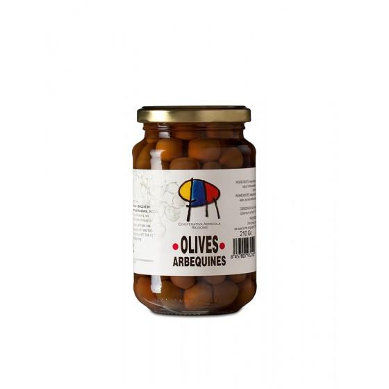 Aceitunas arbequinas 210 gr